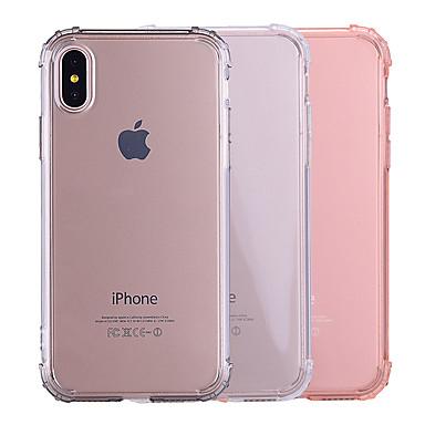 voordelige iPhone 5 hoesjes-hoesje Voor Apple iPhone X / iPhone 8 Plus / iPhone 8 Schokbestendig / Transparant / Doorzichtig Achterkant Effen Zacht TPU