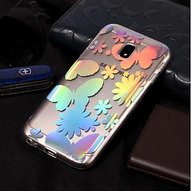 voordelige Galaxy J-serie hoesjes / covers-hoesje Voor Samsung Galaxy J7 (2017) / J7 (2016) / J7 Beplating / Patroon Achterkant Vlinder Zacht TPU