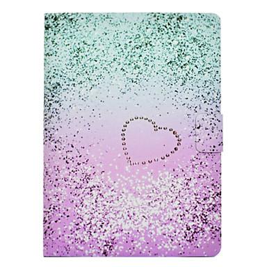 رخيصةأون أغطية أيفون-غطاء من أجل Apple iPad Mini 3/2/1 / iPad Mini 4 حامل البطاقات / ضد الصدمات / مع حامل غطاء كامل للجسم قلب قاسي جلد PU