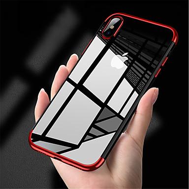 Недорогие Кейсы для iPhone X-Кейс для Назначение Apple iPhone X / iPhone 8 Pluss / iPhone 8 Покрытие Кейс на заднюю панель Однотонный Мягкий ТПУ