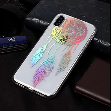 Недорогие Кейсы для iPhone 6-Кейс для Назначение Apple iPhone X / iPhone 8 Pluss / iPhone 8 Покрытие / С узором Кейс на заднюю панель Ловец снов / Цветы Мягкий ТПУ