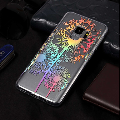Недорогие Чехлы и кейсы для Galaxy S3-Кейс для Назначение SSamsung Galaxy S9 / S9 Plus / S8 Plus IMD / С узором Кейс на заднюю панель одуванчик Мягкий ТПУ