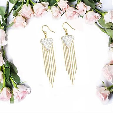 olcso Függők-Női Gyöngy Függők Francia kapcsos fülbevalók hölgyek Vintage Divat Elegáns Arannyal bevont S925 ezüst Édesvízi gyöngy Fülbevaló Ékszerek Arany Kompatibilitás Napi Fesztivál