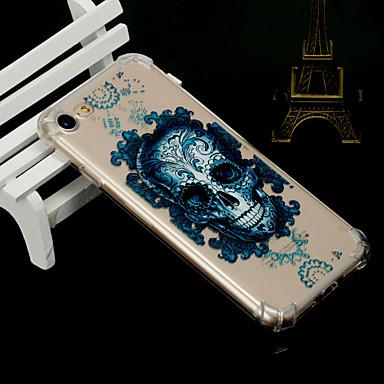 voordelige iPhone 5 hoesjes-hoesje Voor Apple iPhone XS / iPhone XR / iPhone XS Max Schokbestendig / Transparant / Doorzichtig Achterkant Doodskoppen Zacht TPU