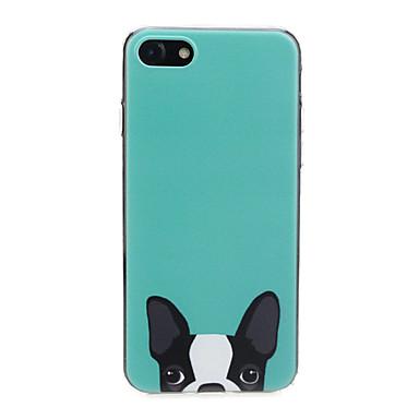 voordelige iPhone 6 Plus hoesjes-hoesje Voor Apple iPhone X / iPhone 8 Plus / iPhone 8 Ultradun / Patroon / Schattig Achterkant Hond / dier Zacht TPU