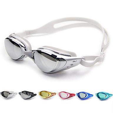 billige Svømmebriller-svømmebriller Vandtæt Anti-Tåge Justerbar Størrelse Recept Spejlet En størrelse silica Gel PC Hvid Sort Mørkeblå Grøn Lyserød Sort
