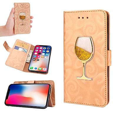 voordelige iPhone-hoesjes-hoesje Voor Apple iPhone XS / iPhone XR / iPhone XS Max Stromende vloeistof Volledig hoesje Glitterglans Hard PU-nahka