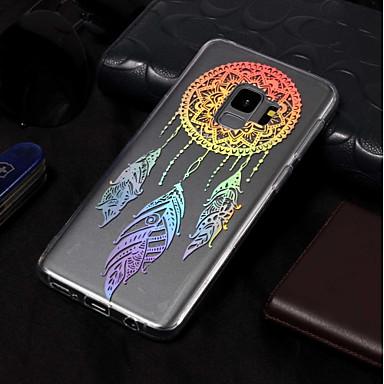 olcso Galaxy S3 tokok-Case Kompatibilitás Samsung Galaxy S9 / S9 Plus / S8 Plus IMD / Minta Fekete tok Álomfogó Puha TPU