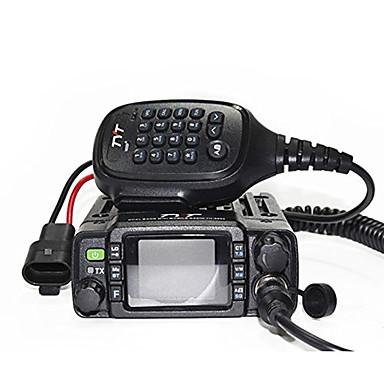 ieftine Walkie Talkies-tyt th-8600 montat pe vehicul bandă dublă 200ch 25w walkie talkie în două sensuri mini radio radio mobil bandă duală culoare LCD afișare stun / ucidere și activare