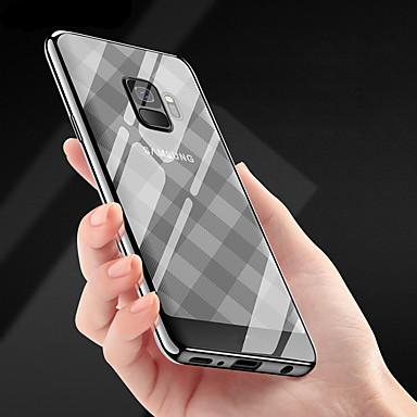 Недорогие Чехлы и кейсы для Galaxy S-Кейс для Назначение SSamsung Galaxy S9 / S9 Plus Покрытие / Ультратонкий / Прозрачный Кейс на заднюю панель Полосы / волосы Мягкий ТПУ