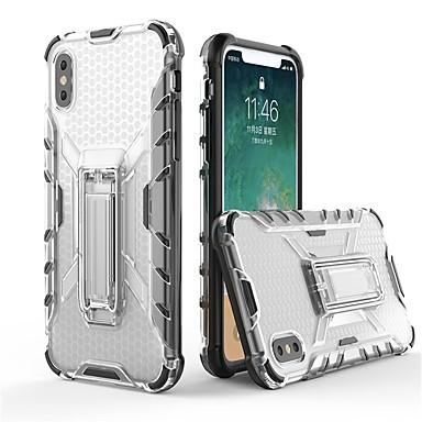 Недорогие Кейсы для iPhone 6 Plus-Кейс для Назначение Apple iPhone X / iPhone 8 Pluss / iPhone 8 со стендом / Прозрачный Кейс на заднюю панель броня Мягкий ТПУ