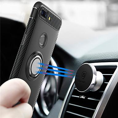 povoljno Maske za mobitele-Θήκη Za OnePlus One Plus 5 / OnePlus 5T Prsten držač Stražnja maska Oklop Tvrdo PC