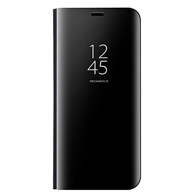 Недорогие Чехлы и кейсы для Xiaomi-Кейс для Назначение Xiaomi Xiaomi Redmi Note 4X / Xiaomi Redmi 5 Plus / Xiaomi Redmi 5 со стендом / Зеркальная поверхность Чехол Однотонный Твердый Кожа PU