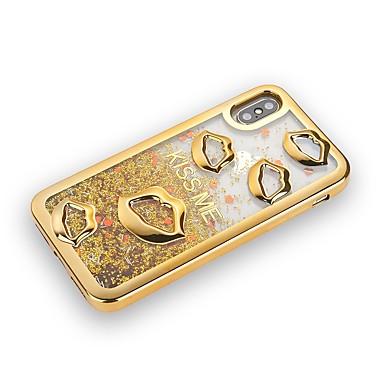 voordelige iPhone-hoesjes-hoesje Voor Apple iPhone X / iPhone 8 Plus / iPhone 8 Beplating / Stromende vloeistof / Glitterglans Achterkant Glitterglans Zacht TPU