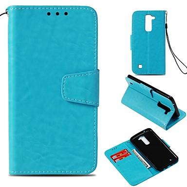 Недорогие Чехлы и кейсы для LG-Кейс для Назначение LG LG X Style / LG V30 / LG V20 Кошелек / Бумажник для карт / Магнитный Чехол Однотонный Твердый Искусственная кожа