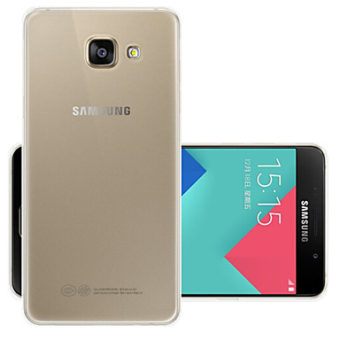 Недорогие Чехол Samsung-Кейс для Назначение SSamsung Galaxy A5(2016) Прозрачный Кейс на заднюю панель Однотонный Мягкий ТПУ