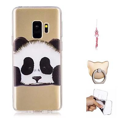 voordelige Galaxy S-serie hoesjes / covers-hoesje Voor Samsung Galaxy S9 / S9 Plus Patroon Achterkant Panda Zacht TPU