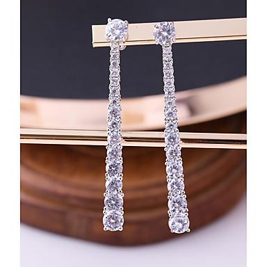 voordelige Fijne Sieraden-Dames Kubieke Zirkonia Oorknopjes Druppel oorbellen meetkundig Modieus Elegant oorbellen Sieraden Wit Voor Bruiloft Avond Feest 1