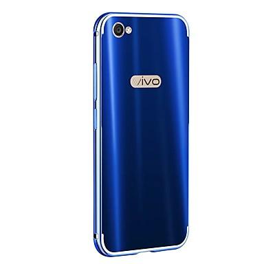 رخيصةأون أغطية-غطاء من أجل Vivo Vivo X9 Plus / Vivo X9 / Vivo X7 Plus تصفيح غطاء خلفي لون سادة قاسي ألمنيوم
