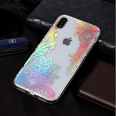 Недорогие Кейсы для iPhone X-Кейс для Назначение Apple iPhone XS / iPhone XR / iPhone XS Max IMD / С узором Кейс на заднюю панель Мультипликация / Кружева Печать / Цветы Мягкий ТПУ