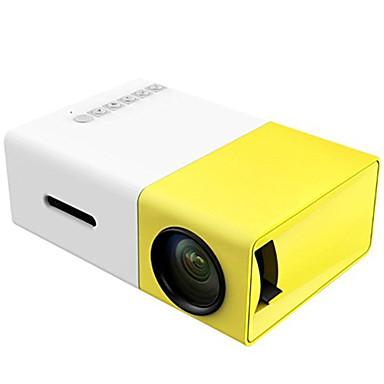 abordables Accesorios Audio y Vídeo-Proyector led de batería incorporada recargable yg300 600 lumen 3.5mm audio 320x240 píxeles yg-300 hdmi usb mini proyector reproductor multimedia doméstico