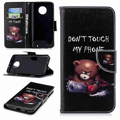 Недорогие Чехлы и кейсы для Motorola-Кейс для Назначение Motorola Moto G5s Plus / Moto G5s / Мото G5 Plus Кошелек / Бумажник для карт / со стендом Чехол Слова / выражения Твердый Кожа PU / Мото G4 Plus