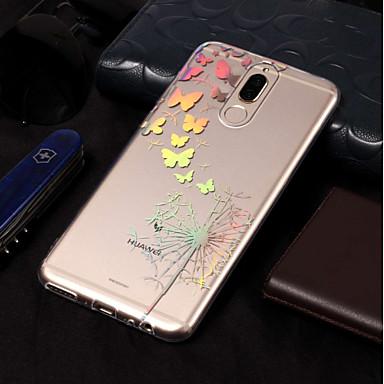 voordelige Huawei Mate hoesjes / covers-hoesje Voor Huawei Mate 10 / Mate 10 pro / Mate 10 lite Beplating / Patroon Achterkant Vlinder / Paardebloem Zacht TPU