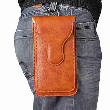Недорогие Универсальные чехлы и сумочки-Кейс для Назначение SSamsung Galaxy S9 / S9 Plus / S8 Plus Магнитный Мешочек Однотонный Мягкий Настоящая кожа