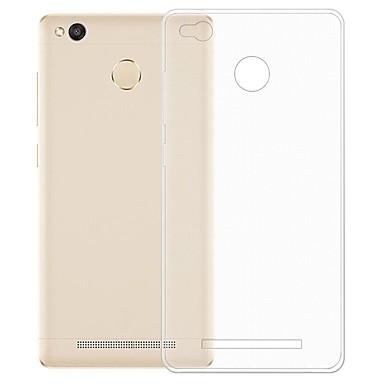 Недорогие Чехлы и кейсы для Xiaomi-Кейс для Назначение Xiaomi Xiaomi Redmi 3S / Xiaomi Redmi 3 Прозрачный Кейс на заднюю панель Однотонный Мягкий ТПУ