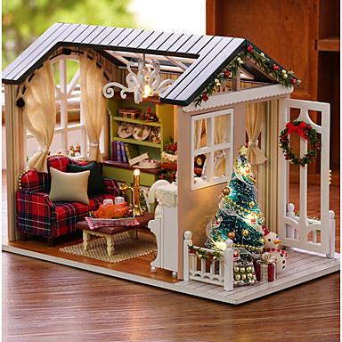 olcso Babaház és kiegészítők-Babaház Kreatív DIY Tökéletes Karácsony Mini Bútor Fa Romantikus 1 pcs Összes Lány Játékok Ajándék
