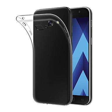 Недорогие Чехол Samsung-Кейс для Назначение SSamsung Galaxy A3 (2017) Прозрачный Кейс на заднюю панель Однотонный Мягкий ТПУ
