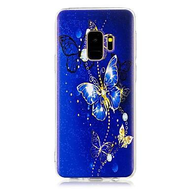 Недорогие Чехлы и кейсы для Galaxy S-Кейс для Назначение SSamsung Galaxy S9 / S9 Plus / S8 Plus С узором Кейс на заднюю панель Бабочка Мягкий ТПУ