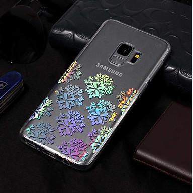 Недорогие Чехлы и кейсы для Galaxy S3-Кейс для Назначение SSamsung Galaxy S9 / S9 Plus / S8 Plus Покрытие / С узором Кейс на заднюю панель Кружева Печать Мягкий ТПУ