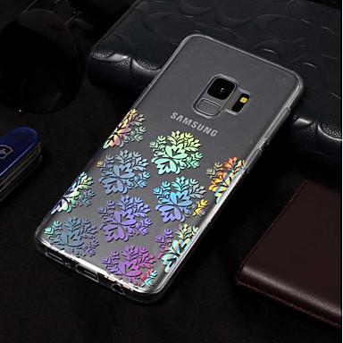 Недорогие Чехлы и кейсы для Galaxy S3-Кейс для Назначение SSamsung Galaxy S9 / S9 Plus / S8 Plus IMD / С узором Кейс на заднюю панель Цветы Мягкий ТПУ