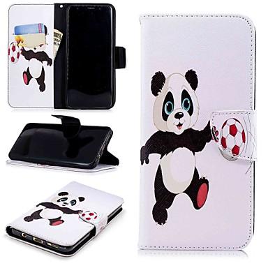 Недорогие Чехлы и кейсы для Galaxy S-Кейс для Назначение SSamsung Galaxy S9 / S8 Plus Кошелек / Бумажник для карт / со стендом Чехол Панда Твердый Кожа PU