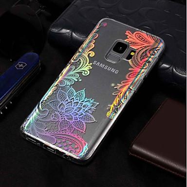 Недорогие Чехлы и кейсы для Galaxy S3-Кейс для Назначение SSamsung Galaxy S9 / S9 Plus / S8 Plus IMD / С узором Кейс на заднюю панель Кружева Печать Мягкий ТПУ