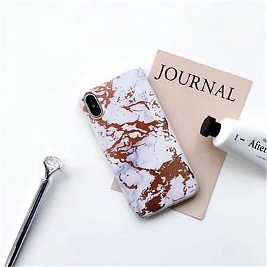 voordelige iPhone-hoesjes-hoesje Voor Apple iPhone X / iPhone 8 Plus / iPhone 8 Patroon Achterkant Marmer Zacht TPU
