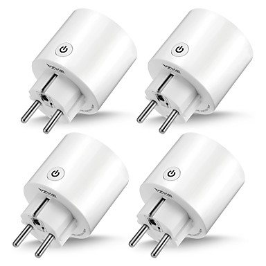 cheap Smart Plug-WAZA Smart Plug(EU) Mini Outlet Compatible with Amazon Alexa and Google Assistant, Wifi Enabled Remote Control Smart Socket with Timer Function, No Hub Required(4-Pack)