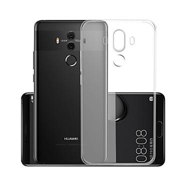 olcso Huawei P sorozat tokok/borítók-Case Kompatibilitás Huawei Mate 10 pro Átlátszó Fekete tok Egyszínű Puha TPU