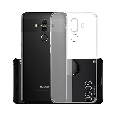 voordelige Huawei Mate hoesjes / covers-hoesje Voor Huawei Mate 10 pro Transparant Achterkant Effen Zacht TPU
