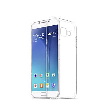 voordelige Galaxy A-serie hoesjes / covers-hoesje Voor Samsung Galaxy A8 Transparant Achterkant Effen Zacht TPU