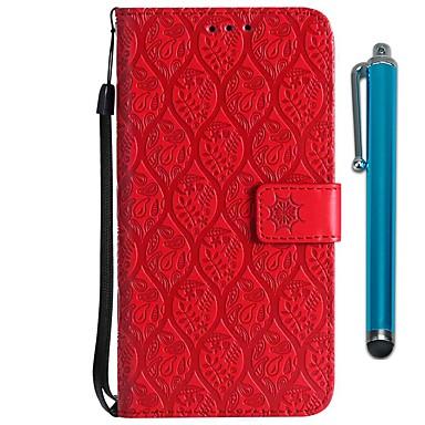 Недорогие Чехлы и кейсы для Motorola-Кейс для Назначение Motorola MOTO G6 / Moto G6 Plus / Moto G5 Кошелек / Бумажник для карт / со стендом Чехол Цветы Твердый Кожа PU