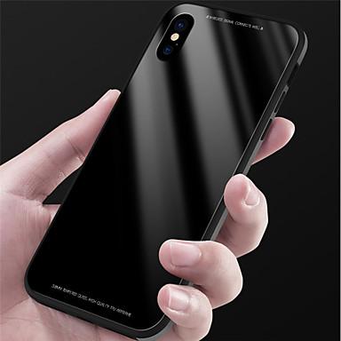 Недорогие Кейсы для iPhone X-Кейс для Назначение Apple iPhone X / iPhone 8 Pluss / iPhone 8 Зеркальная поверхность Кейс на заднюю панель Однотонный Твердый Закаленное стекло