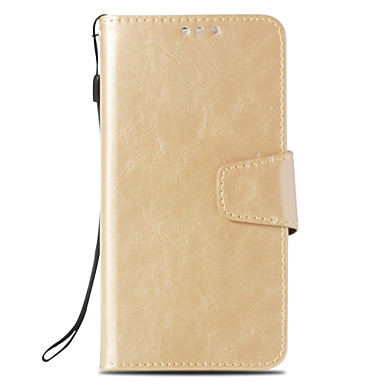 Недорогие Чехлы и кейсы для Sony-Кейс для Назначение Sony Xperia XZ2 / Xperia XZ2 Compact / Xperia XZ1 Compact Кошелек / Бумажник для карт / со стендом Чехол Однотонный Твердый Кожа PU