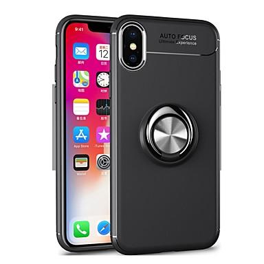 Недорогие Кейсы для iPhone-Кейс для Назначение Apple iPhone 12 / iPhone 12 Mini / iPhone 12 Pro Max Кольца-держатели Кейс на заднюю панель Однотонный Мягкий ТПУ