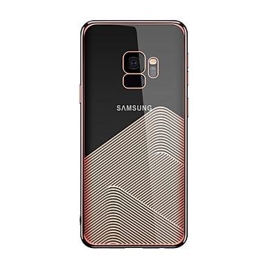 Недорогие Чехлы и кейсы для Galaxy S-Кейс для Назначение SSamsung Galaxy S9 / S9 Plus Прозрачный / С узором Кейс на заднюю панель Геометрический рисунок Мягкий ТПУ