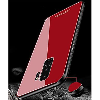 Недорогие Чехлы и кейсы для Galaxy S-Кейс для Назначение SSamsung Galaxy S9 / S9 Plus / S8 Plus Ультратонкий Кейс на заднюю панель Однотонный Твердый Закаленное стекло