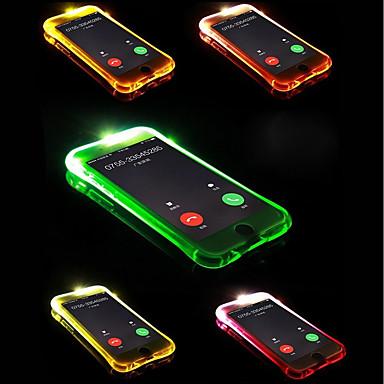 voordelige iPhone X hoesjes-hoesje Voor Apple iPhone X / iPhone 8 Plus / iPhone 8 LED-knipperlicht Achterkant Effen Zacht TPU