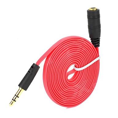 olcso Fejhallgató tartozékok-3,5 mm-es jack hím-férfi kábel sztereó hangkiterjesztés aux kábel vonal kábel iphone ipod mp3 autó autó vezeték