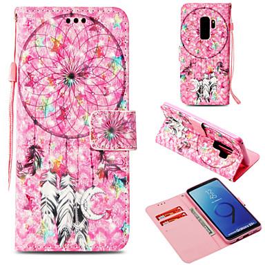 Недорогие Чехлы и кейсы для Galaxy S-Кейс для Назначение SSamsung Galaxy S9 / S9 Plus / S8 Plus Кошелек / Бумажник для карт / со стендом Чехол Ловец снов Твердый Кожа PU